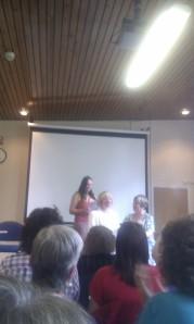 Evonne Wareham getting the Joan Hessayon trophy