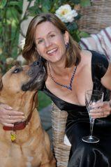 Beverley Eikli and her Rhodesian Ridgeback, Homer