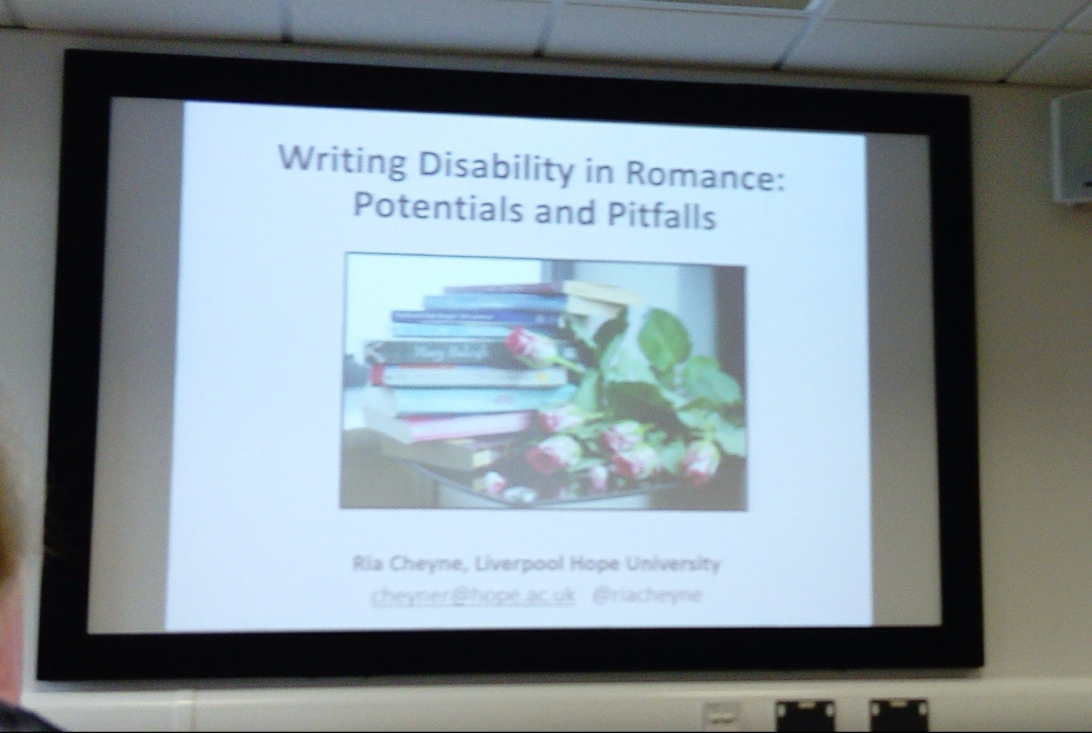 Slide from @DisRomProject 'Writing Disability in Romance: Potentials and Pitfalls