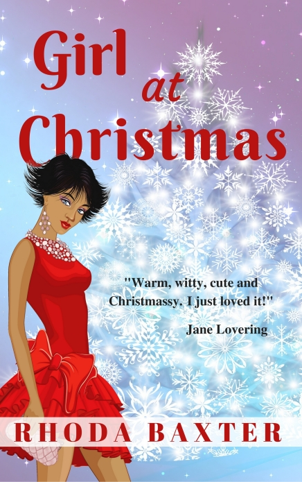 Girl at christmas cover w quote